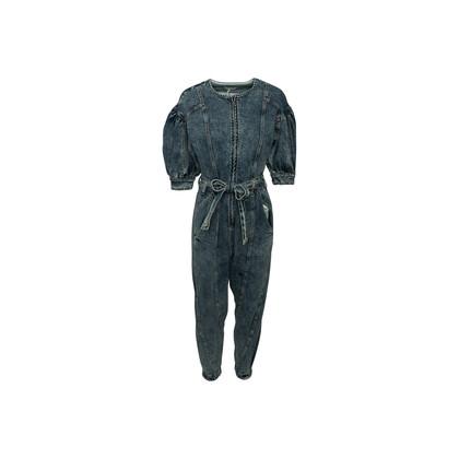 Authentic Second Hand Ulla Johnson Sabra Acid Wash Jumpsuit (PSS-A34-00047)