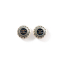 Authentic Second Hand Chanel CC Round Enamel Earrings (PSS-247-00238) - Thumbnail 0