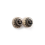 Authentic Second Hand Chanel CC Round Enamel Earrings (PSS-247-00238) - Thumbnail 1