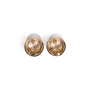 Authentic Second Hand Chanel CC Round Enamel Earrings (PSS-247-00238) - Thumbnail 2