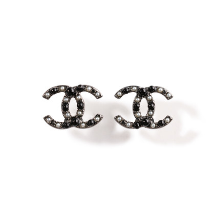 Authentic Second Hand Chanel Pearl Logo Earrings (PSS-A09-00038)