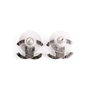 Authentic Second Hand Chanel Pearl Logo Earrings (PSS-A09-00038) - Thumbnail 2