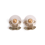 Authentic Second Hand Chanel Crystal Logo Earrings (PSS-A09-00037) - Thumbnail 2