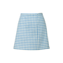Authentic Second Hand Prada Wool Gingham Mini Skirt (PSS-351-00051) - Thumbnail 0