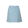 Authentic Second Hand Prada Wool Gingham Mini Skirt (PSS-351-00051) - Thumbnail 1