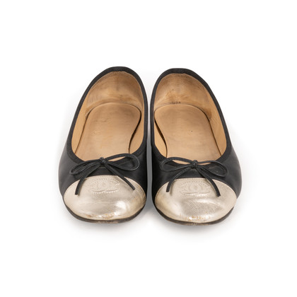 Authentic Second Hand Chanel Two Tone Ballet Flats (PSS-A63-00004)