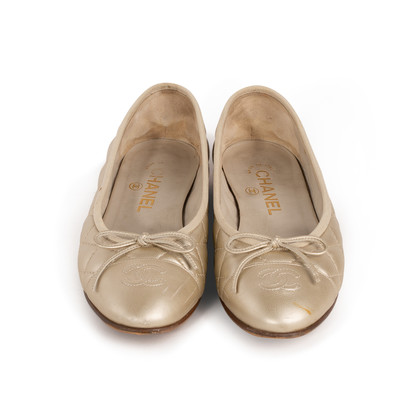 Authentic Second Hand Chanel Quilted Ballerina Flats (PSS-A63-00005)