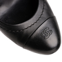 Authentic Second Hand Chanel CC Cap Toe Pumps (PSS-B16-00004) - Thumbnail 7