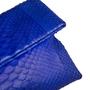 Authentic Second Hand (unbranded) Python Cobalt Blue Clutch (PSS-B16-00005) - Thumbnail 4