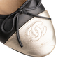 Authentic Second Hand Chanel Two Tone Ballet Flats (PSS-A63-00004) - Thumbnail 7