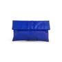 Authentic Second Hand (unbranded) Python Cobalt Blue Clutch (PSS-B16-00005) - Thumbnail 0