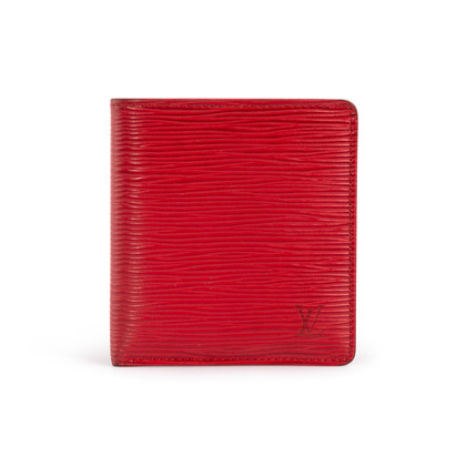 Authentic Second Hand Louis Vuitton Red Epi Bifold Wallet (PSS-B16-00006)