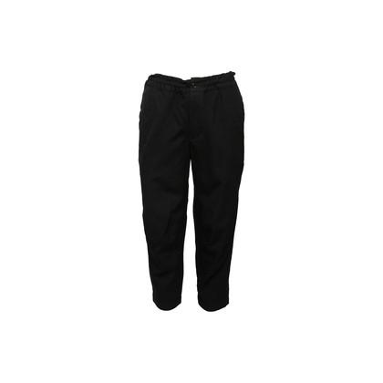 Authentic Second Hand BLACK Comme des Garçons Wool Elastic Pants (PSS-992-00015)