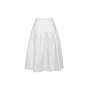 Authentic Second Hand Prada Pleated Floral Eyelet Skirt (PSS-992-00019) - Thumbnail 1