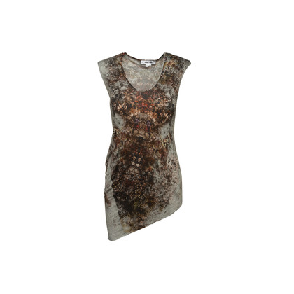 Authentic Second Hand Helmut Lang Abstract Print Tank Top (PSS-992-00024)