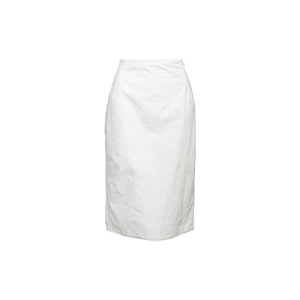 Authentic Second Hand Tomas Maier White Pencil Skirt (PSS-992-00034)