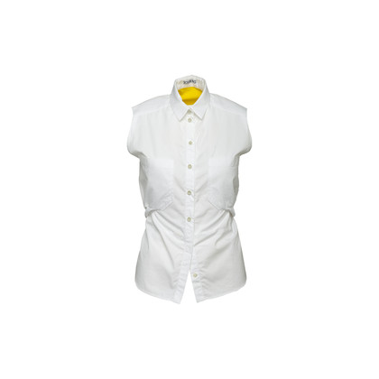 Authentic Second Hand Iceberg Contrast Sleeveless Collared Blouse (PSS-088-00311)