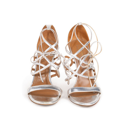 Authentic Second Hand Aquazzura Strappy Lace Up Sandals (PSS-756-00039)