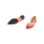 Authentic Second Hand Bionda Castana Denni Geometric Panel Flats (PSS-A79-00016) - Thumbnail 4