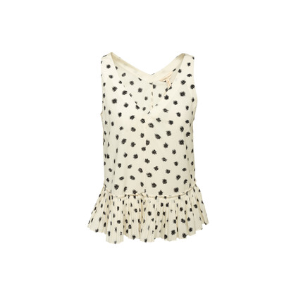 Authentic Second Hand Rebecca Taylor Pleated Dandelion Top (PSS-B20-00009)