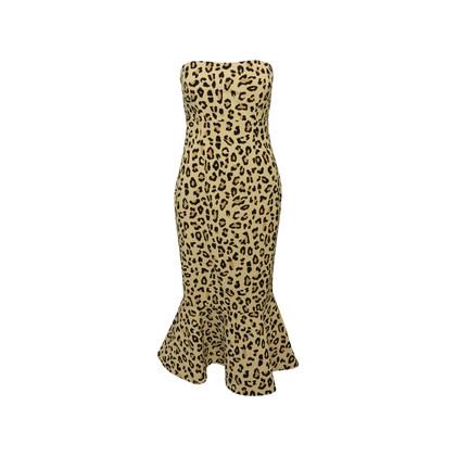 Authentic Second Hand Cinq à Sept Animal Print Bustier Dress (PSS-148-00078)