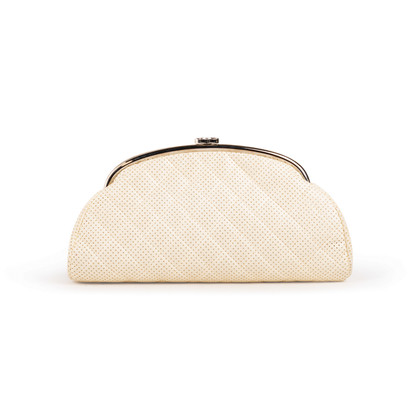Authentic Second Hand Chanel Peforated Half Moon Clutch (PSS-B26-00006)