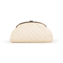 Authentic Second Hand Chanel Peforated Half Moon Clutch (PSS-B26-00006) - Thumbnail 0