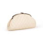 Authentic Second Hand Chanel Peforated Half Moon Clutch (PSS-B26-00006) - Thumbnail 1