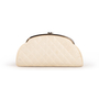 Authentic Second Hand Chanel Peforated Half Moon Clutch (PSS-B26-00006) - Thumbnail 2