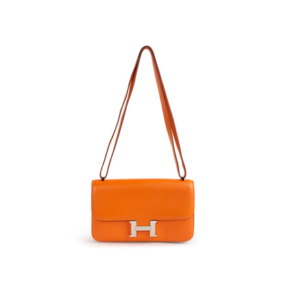 Authentic Second Hand Hermès Orange Swift Constance Elan (PSS-B24-00001)