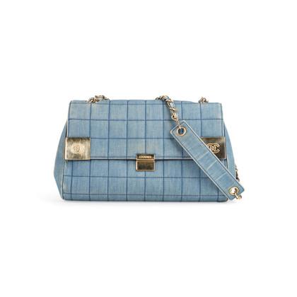 Authentic Second Hand Chanel Square Quilt Denim Flap Bag (PSS-988-00044)