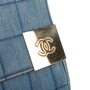 Authentic Second Hand Chanel Square Quilt Denim Flap Bag (PSS-988-00044) - Thumbnail 8
