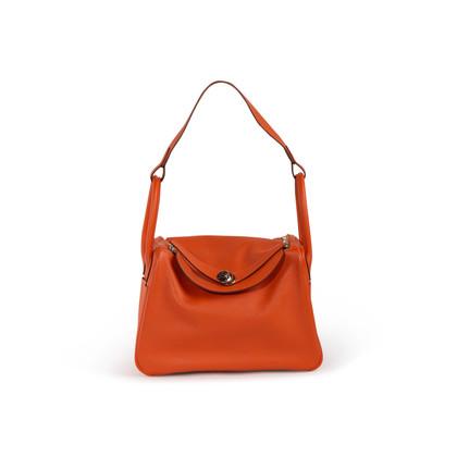 Authentic Second Hand Hermès Feu Evercolor Lindy 30 (PSS-B32-00001)