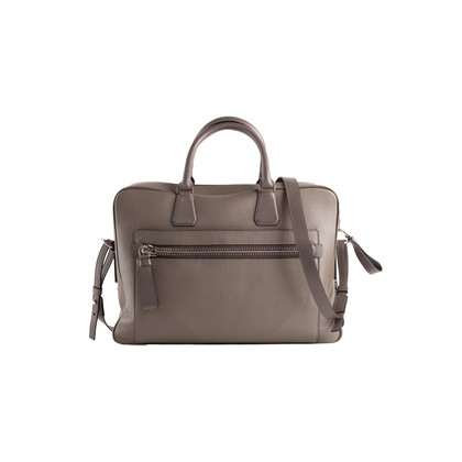 Authentic Second Hand Tom Ford Grain Leather Briefcase with Shoulder Strap (PSS-787-00017)