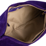 Authentic Second Hand Sergio Rossi Purple Suede Clutch (PSS-B35-00002) - Thumbnail 5
