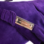 Authentic Second Hand Sergio Rossi Purple Suede Clutch (PSS-B35-00002) - Thumbnail 6