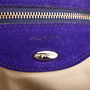 Authentic Second Hand Sergio Rossi Purple Suede Clutch (PSS-B35-00002) - Thumbnail 4