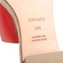 Authentic Second Hand Hermès Red Espadrille Sandal (PSS-B11-00018) - Thumbnail 6