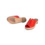 Authentic Second Hand Hermès Red Espadrille Sandal (PSS-B11-00018) - Thumbnail 4