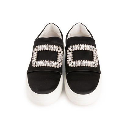 Authentic Second Hand Roger Vivier Sneaky Viv Strass Satin Sneakers (PSS-B11-00031)