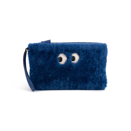 Authentic Second Hand Anya Hindmarch Shearling Ghost Pouch (PSS-B42-00004)