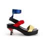 Authentic Second Hand Versace Vecro Strap Platform Sandals (PSS-A62-00018) - Thumbnail 1