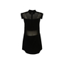 Authentic Second Hand T by Alexander Wang Sheer Panel Shirt Dress (PSS-378-00015) - Thumbnail 2