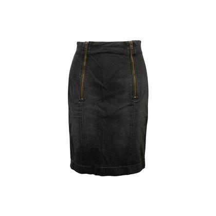Authentic Second Hand Current Elliott Denim Zipper Pencil Skirt (PSS-A64-00083)