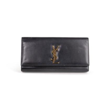Authentic Second Hand Saint Laurent Cassandre Leather Clutch (PSS-454-00014)
