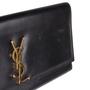 Authentic Second Hand Saint Laurent Cassandre Leather Clutch (PSS-454-00014) - Thumbnail 8