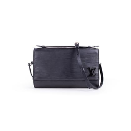 Authentic Second Hand Louis Vuitton Clery Epi Noir Clutch (PSS-B26-00024)