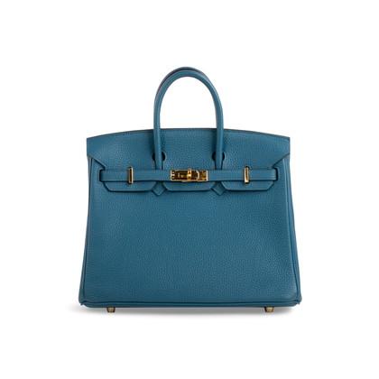 Authentic Second Hand Hermès Cobalt Birkin 25 (PSS-059-00119)