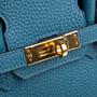 Authentic Second Hand Hermès Cobalt Birkin 25 (PSS-059-00119) - Thumbnail 6