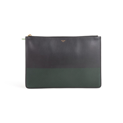 Authentic Second Hand Céline Perforated Clutch Pouch (PSS-B49-00001)